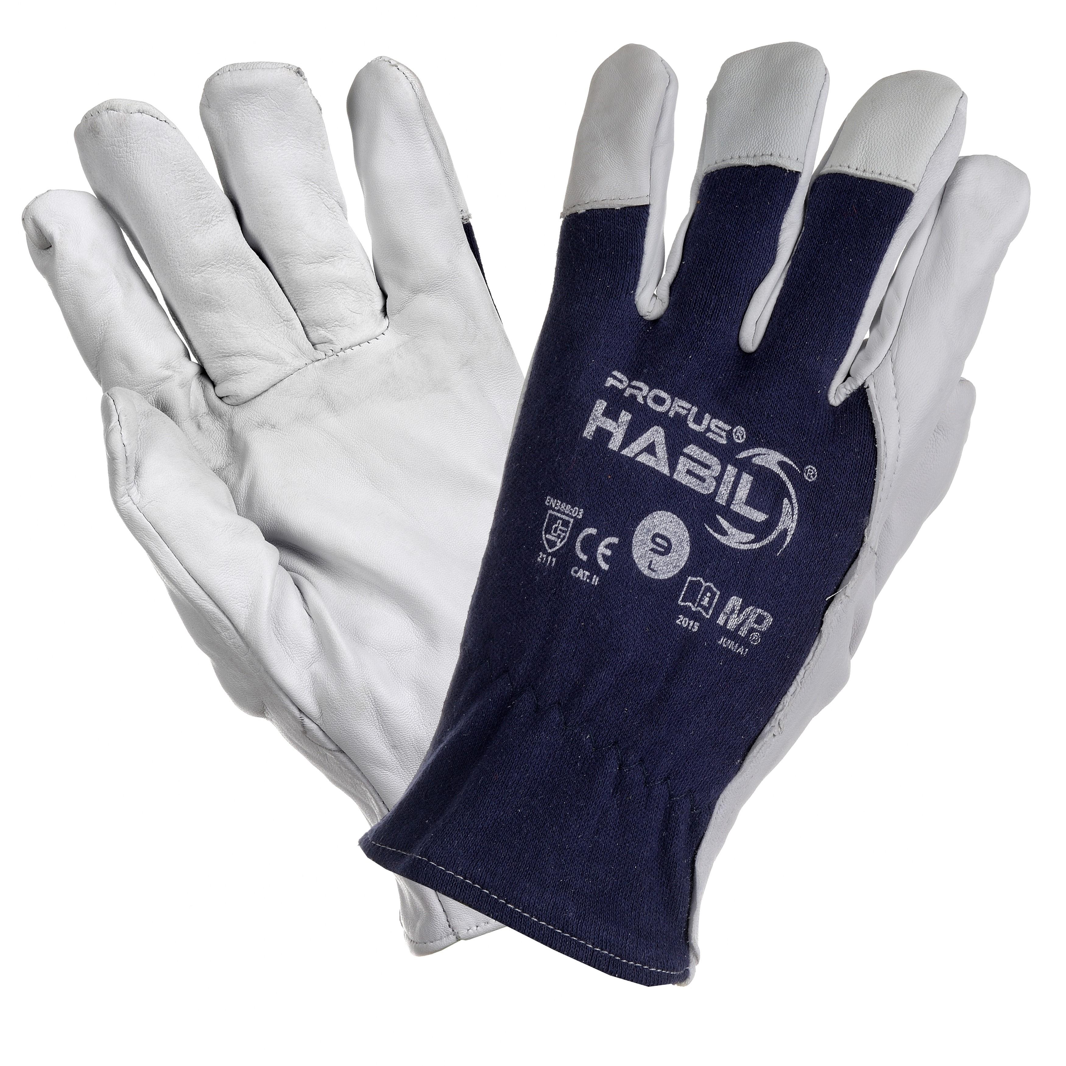29514d17771768 Rękawice robocze skóra licowa kozia HABIL - ExpertoBHP hurtownia BHP odzież  robocza buty robocze kaski maski okulary ochronne rękawice szelki bluzy  polary ...