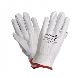 Rękawice robocze skóra licowa kozia NATELER