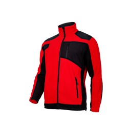 Bluza polar roboczy ze wzmocnieniami czerwony LAHTI PRO L40115