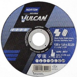 Tarcza do cięcia stali NORTON VULCAN 125x1,0