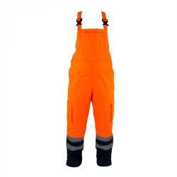 Spodnie ogrodniczki ostrzegawcze zimowe ocieplane LAHTI PRO L41102