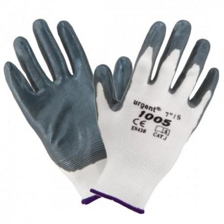 Rękawice robocze ochronne URGENT 1003 POLIESTER LATEX