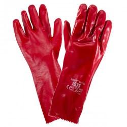 Rękawice robocze ochronne URGENT 1035 PCV CZERWONA
