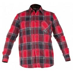 Koszula robocza flanelowa czerwona LAHTI PRO LPKF1