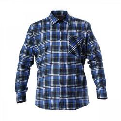 Koszula robocza flanelowa niebieska LAHTI PRO LPKF3