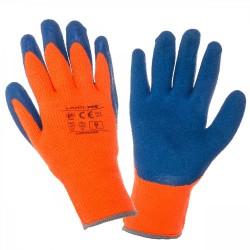 Rękawice ochronne ocieplane powlekane lateksem LAHTI PRO L2502